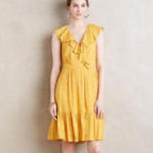 Anthropologie HD in Paris Yellow Boho Dress